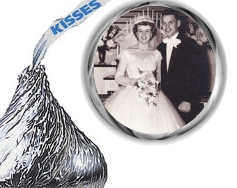 108 Photo Anniversary Hershey Kiss Labels