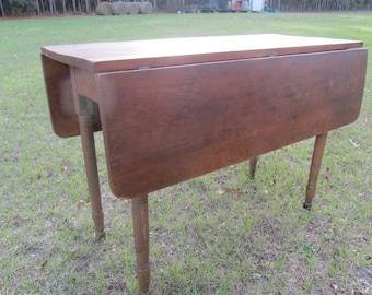 Antique Drop Leaf Table, Primitve Table, Wood Furniture, Dinning Table,kitchen  Table