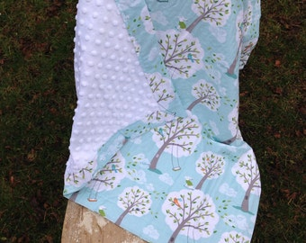 READY TO SHIP - Backyard Baby Minky Blanket