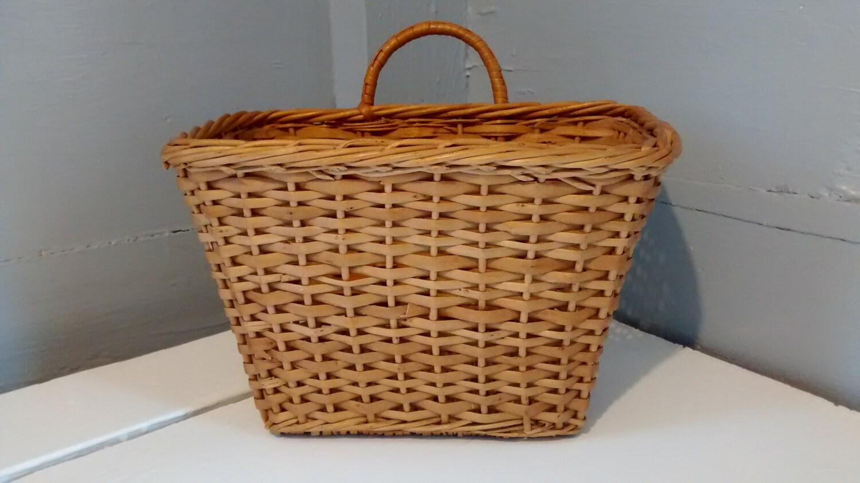 Vintage Hanging Wicker Basket Kitchen Home Decor