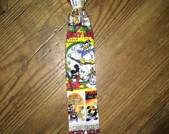 Vintage looking Mickey Mouse/Disney/Perfect for a Disney Cruise or Disneyworld/Fun tie/classic Mickey Mouse/boys tie/necktie/boys necktie