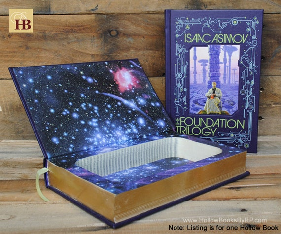 Hollow Book Safe - The Foundation Trilogy - Leather Bound