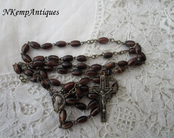 French glass  rosary 1920's