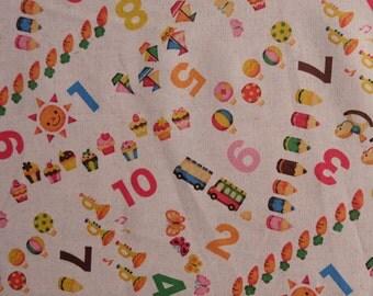57x108cm Pink Kids Print Japanese Cotton Fabric (SC016)