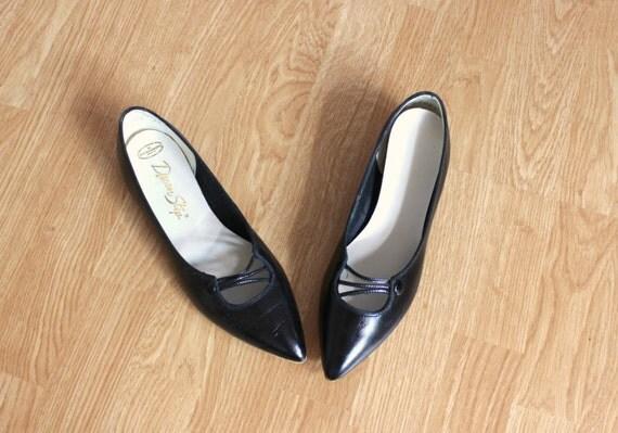 Vintage Leather Winklepicker Shoes