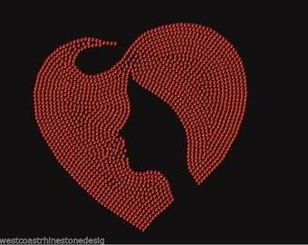 Heart Disease Awareness Women Rhinestone Iron on Transfer NGEF