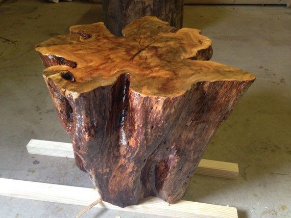 - Tree Stump Table - Tree Stump Side Table - Tree Stump End Table ...