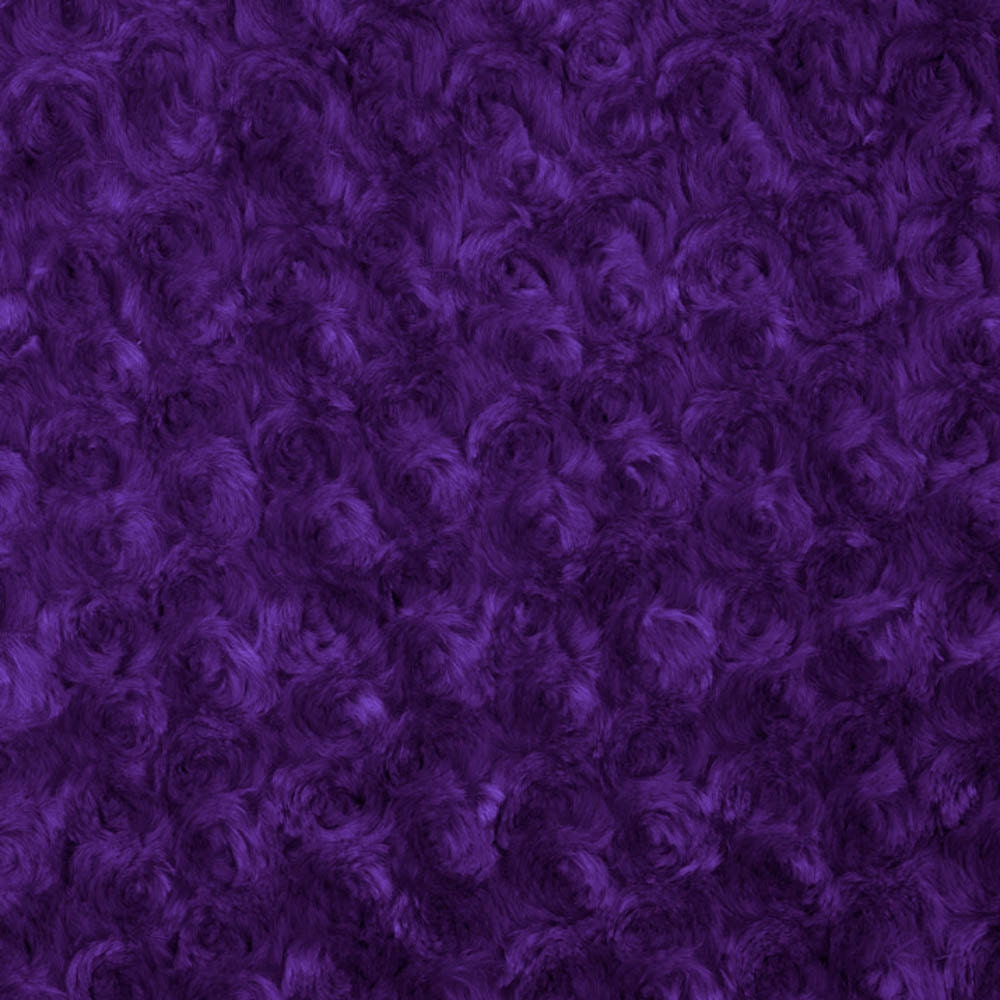 Purple rosebud minky fabric sold by the yard 6011 from for Purple baby fabric