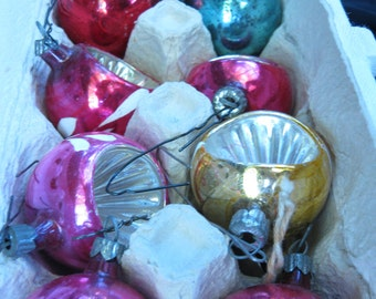 Small Vintage Glass Christmas Ornaments