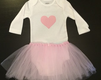 Heart Onesie with Tutu
