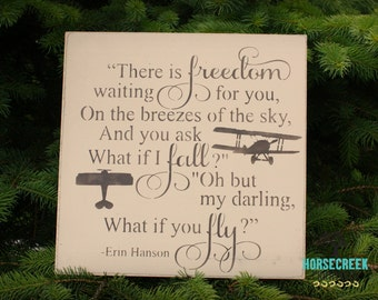 Pilot Gift, What if i fall oh my darling what if you fly, airplane decor, airplane nursery