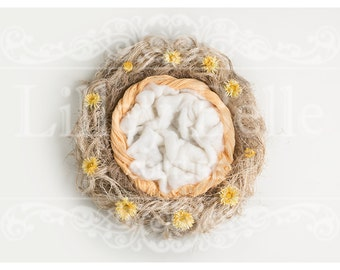 Digital prop/backdrop (Messy Nest Yellow Floral)