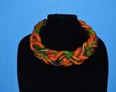 Ankara Necklace, Statement Necklace, Ethnic Necklace, Triabal Neckalce, Bib Necklace, African Print necklace, HawasBoutique, Kente Necklace.