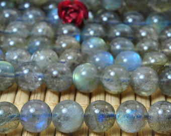 62 pcs of A A A Grade--Natural Labradorite smooth round beads in 6mm (1#)