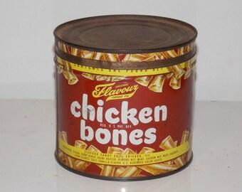 Vintage Chicken Bones Candy Tin