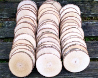 "50 Maple wood slices 2.5"" - 3.5"""