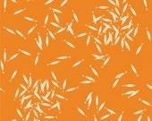 School of Fish in Orange - Organic Cotton Fabric - Charley Harper for Birch Fabrics