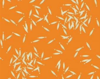 School of Fish in Orange - Organic Cotton Fabric - Charley Harper for Birch Fabrics