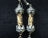 Pewter jaws earrings