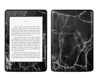 Amazon Kindle Skin - Black Marble - Sticker Decal - Fits Paperwhite, Fire, Voyage, Touch, Oasis
