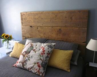 Reclaimed Barn Wood Headboard - Handcrafted