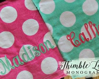 Monogram Beach Towel, Monogrammed Beach Towel,  Beach Towel Gift Set, Pool Towel, Personalized Towel, Monogram Beach Towel