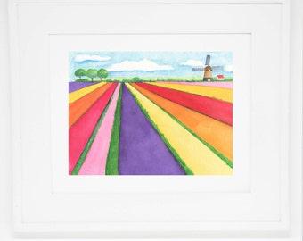 The Tulip Farm art print -- 8x10