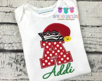Christmas Baby Shirt - Baby Girl Christmas  Outfit - Baby Girl Christmas Shirt
