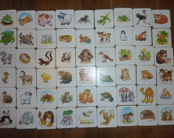 Memory Matching Game Tile Card Jewelry Cardboard Altered Art Supply