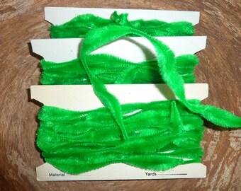 Vintage Green Bump Chenille - 5 Yards