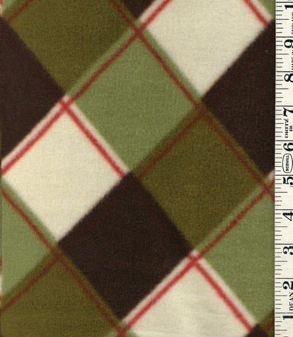 60w x 56l plaid anti pill fleece fabric remnant brown fleece. Black Bedroom Furniture Sets. Home Design Ideas