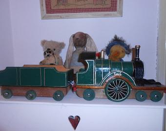 emily engine handmade recycled wood toy train thomas the tank reverend awdry story train set shabby chic french decor child gift nursery toy