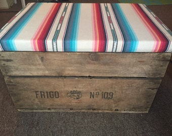 Decorative vintage storage crate