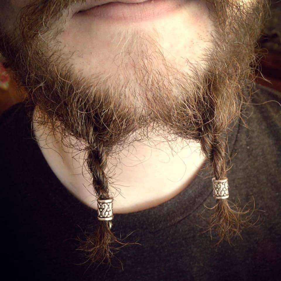 Beard Bead Kit Innder Tibetan Alloy Beard Rings Viking