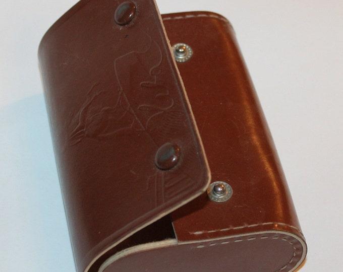 vintage leather box USSR leningrad Saint Petersburg