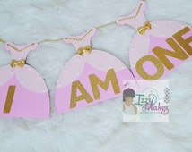 I AM ONE~Princeas Banner~High Chair Banner~Princess Party~First Birthday~Princess Theme~Photo Prop Banner
