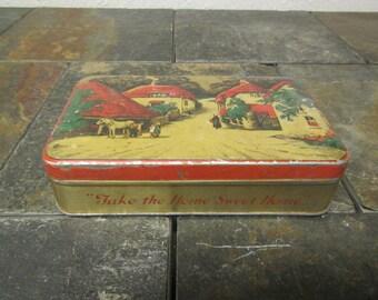 vintage  BLUE BIRD TOFFEE Tin box * Decorative Gift box * Harry Vincent Ltd Hunnington near Birmingham England