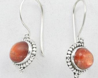 Sun Sitara Earring - Stone Earrings - Sun Star Earring - Dangle Earrings - Designer Silver Jewelry - Valentines Earring - Gemstone Jewelry