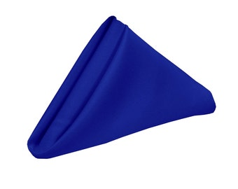 Royal Blue Napkin for Weddings Pack of 10 | Wholesale Polyester Cloth Napkins