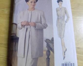 Vogue 1993 Jacket and Dress, Size 20-22-24