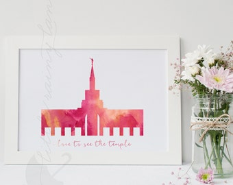 LDS Temple art - Customizable - Toronto Canada Temple - Printable -