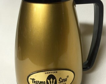 Vintage Drinkware - 1970s Thermo Serv Insulated Pitcher - Like New