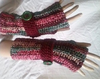 Crochet Fingerless Gloves-Soft and Comfy: Cranapple Tree