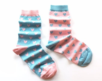 Mismatched Heart Socks by Little Me Paper Co X Friday Sock Co