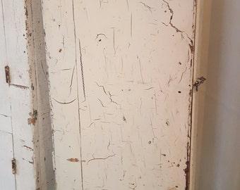 Grazed Old Paint Primitive Drawer Box Storage Cabinet