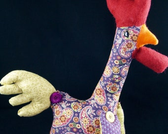Purple hen (soft sculpture, limited edition series)