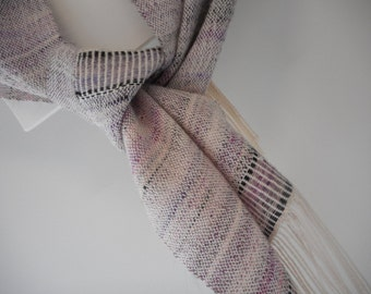 Handwoven Silk and Alpaca Scarf