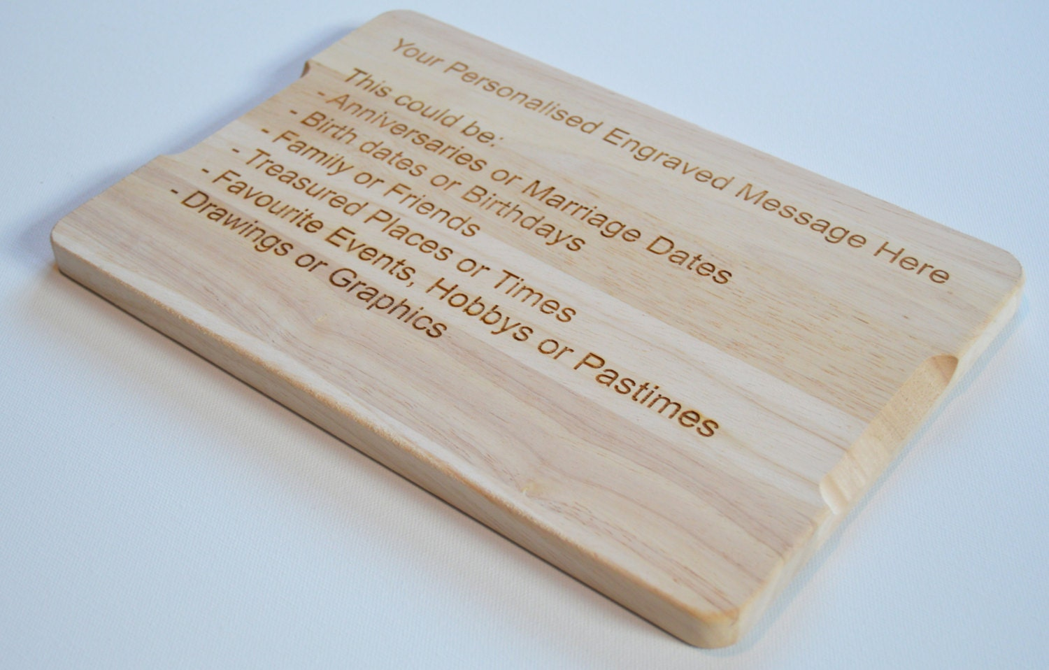 Personalised engraved wooden chopping board by flolliepopdesigns - Engraved wooden chopping boards ...