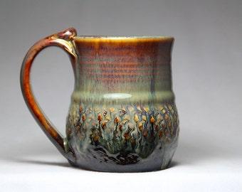12oz ceramic pottery mug, stoneware coffee cup