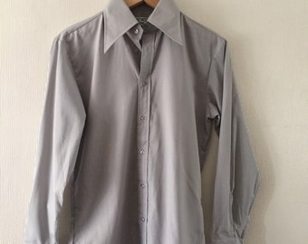 "The Mens Club vintage pale grey shirt size 15 "" collar . New unused."